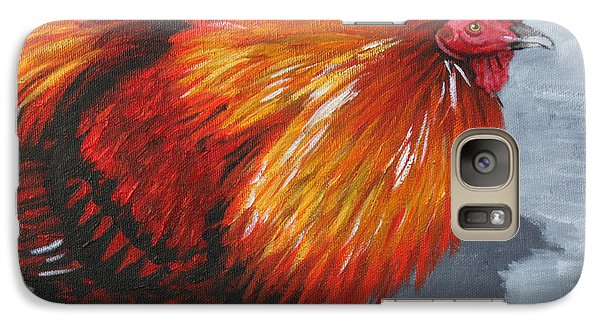 Galaxy Case featuring the painting Bantam Rooster 2 by Penny Birch-Williams