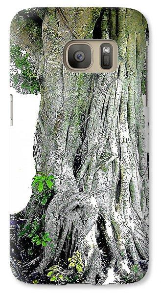 Galaxy Case featuring the photograph Banyon Tree No. 2 by Merton Allen