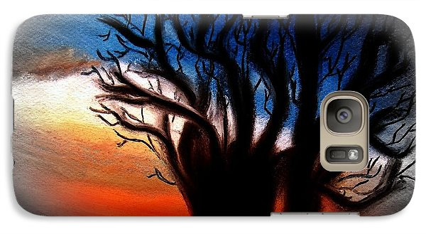 Galaxy Case featuring the painting Baobab Tree 2 by Ayasha Loya