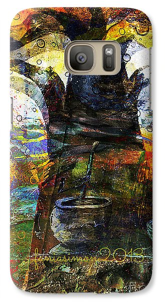 Galaxy Case featuring the mixed media Baobab Tree  by Fania Simon
