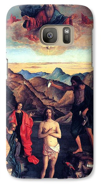Galaxy Case featuring the painting Baptism Of Christ With Saint John 1502 Giovanni Bellini by Karon Melillo DeVega