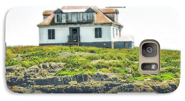 Galaxy Case featuring the photograph Bar Harbor Lighthouse by Raymond Earley