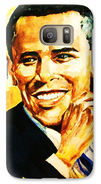 Galaxy Case featuring the painting Barack Obama by Al Brown