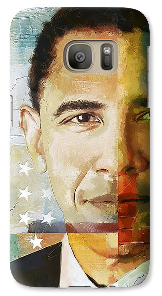 Barack Obama Galaxy S7 Case by Corporate Art Task Force