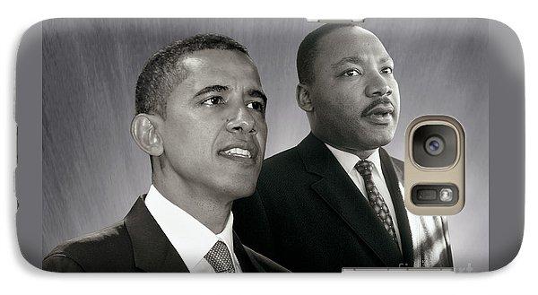 Galaxy Case featuring the photograph Barack Obama  M L King  by Martin Konopacki Restoration