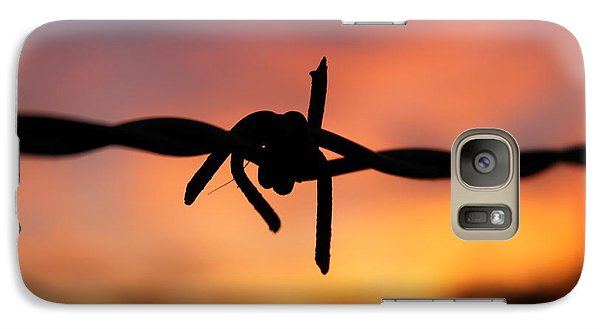 Galaxy Case featuring the photograph Barbed Silhouette by Vicki Spindler