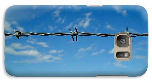 Galaxy Case featuring the photograph Barbed Sky by Nina Ficur Feenan