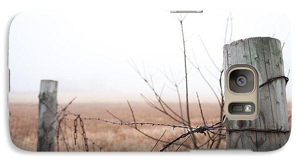 Barbed Wire Fence In The Fog Galaxy S7 Case