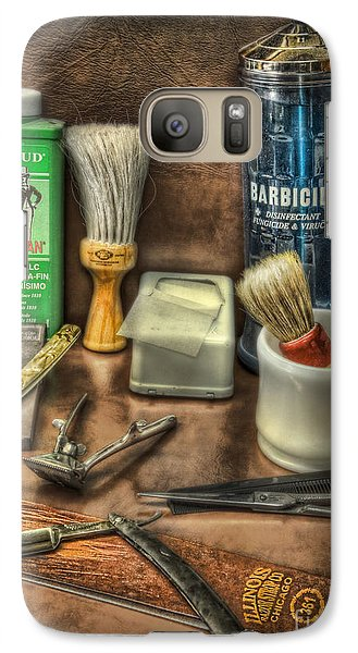 Galaxy Case featuring the photograph Barber Shop Tools  by Lee Dos Santos