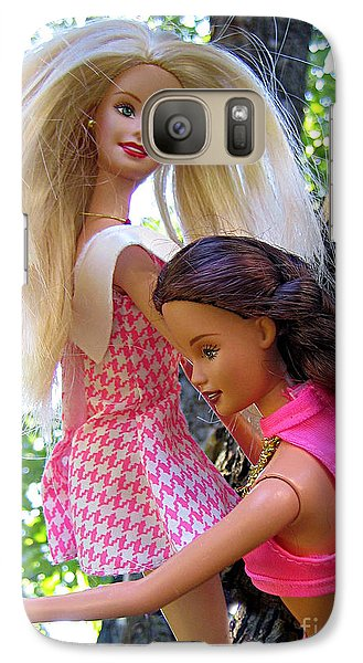 Galaxy Case featuring the photograph Barbie's Climbing Trees by Nina Silver