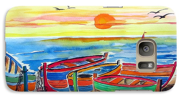 Galaxy Case featuring the painting Barche Dei Pescatori  by Roberto Gagliardi
