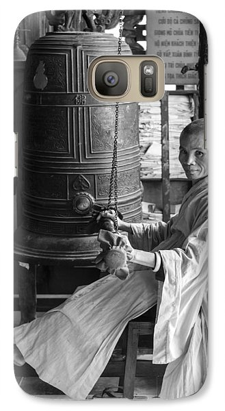 Galaxy Case featuring the photograph Barefoot Buddhist Monk by Tina Manley
