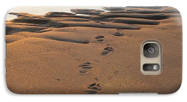 Galaxy Case featuring the photograph Barefoot In Sand by Robert Banach