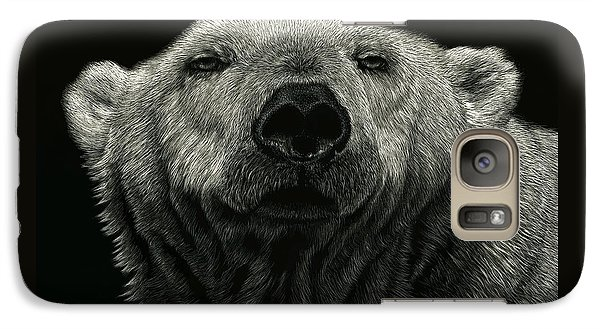 Galaxy Case featuring the drawing Barely Awake by Sandra LaFaut