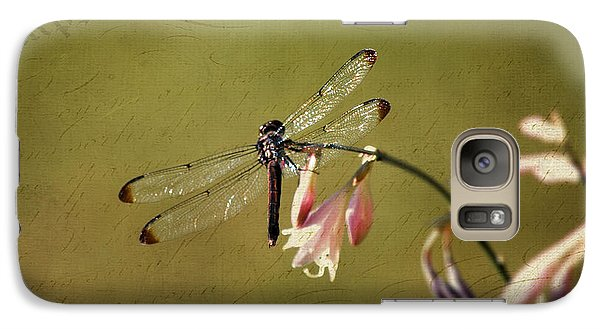 Galaxy Case featuring the photograph Barely Hanging On by Linda Segerson