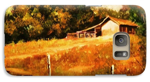 Galaxy Case featuring the painting Barn Above The Creekbed by Al Brown