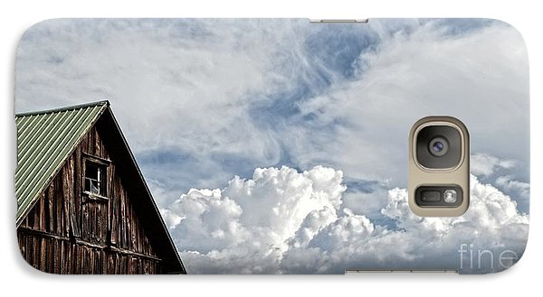 Galaxy Case featuring the photograph Barn And Clouds by Joseph J Stevens