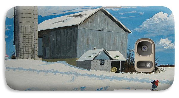 Galaxy Case featuring the painting Barn And Pheasant by Norm Starks