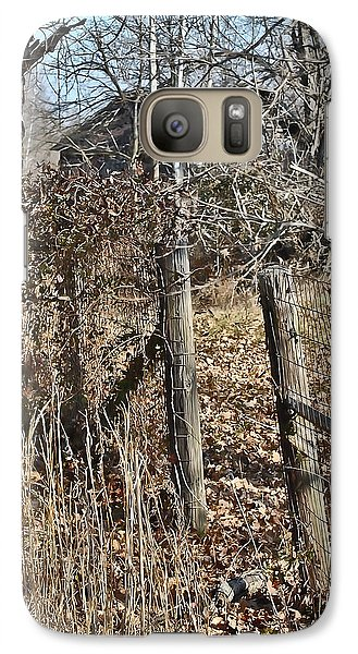 Galaxy Case featuring the photograph Barn Beyond The Fence Row by Greg Jackson