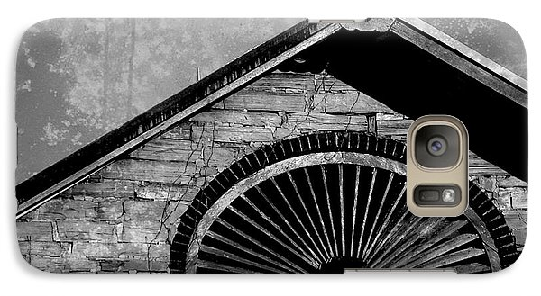 Galaxy Case featuring the photograph Barn Detail - Black And White by Joseph Skompski