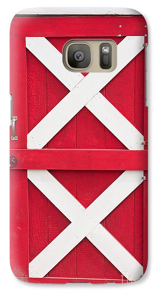 Galaxy Case featuring the photograph Barn Door by Gunter Nezhoda