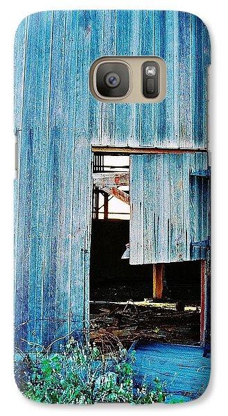 Galaxy Case featuring the photograph Barn Door... Monroe Co. Michigan by Daniel Thompson
