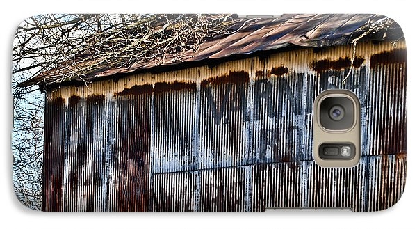 Galaxy Case featuring the photograph Barn Ghost Sign 1 by Greg Jackson