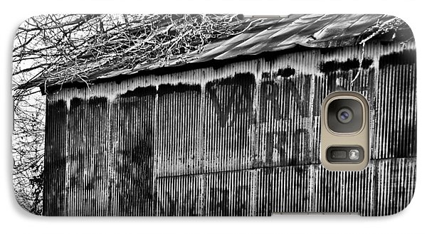 Galaxy Case featuring the photograph Barn Ghost Sign In Bw by Greg Jackson