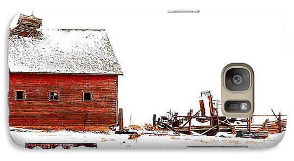 Galaxy Case featuring the photograph Barn In The Snow by Steven Reed