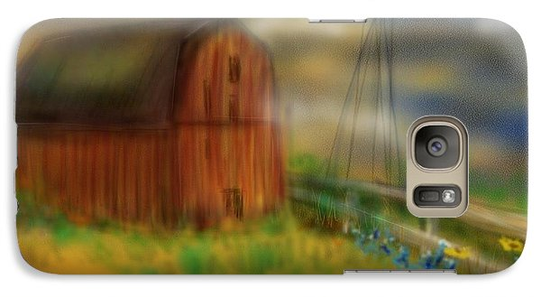 Galaxy Case featuring the painting Barn by Marisela Mungia