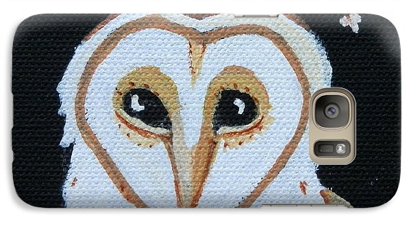 Galaxy Case featuring the painting Barn Owl by Carolyn Cable