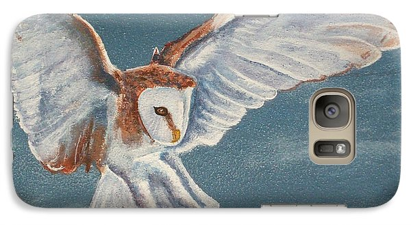 Galaxy Case featuring the painting Barn Owl by Dan Wagner