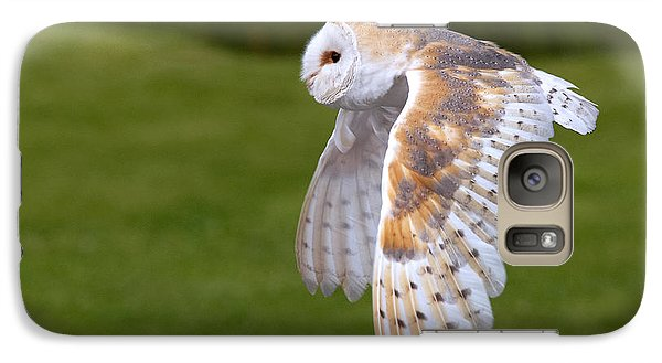 Galaxy Case featuring the photograph Barn Owl In Flight by Nick  Biemans
