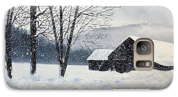 Galaxy Case featuring the painting Barn Storm by Ken Ahlering
