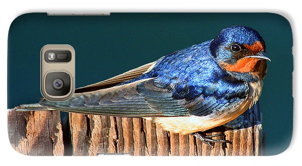 Galaxy Case featuring the photograph Barn Swallow Perching by Bob and Jan Shriner