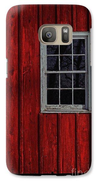 Galaxy Case featuring the photograph Barn Window by Debra Fedchin