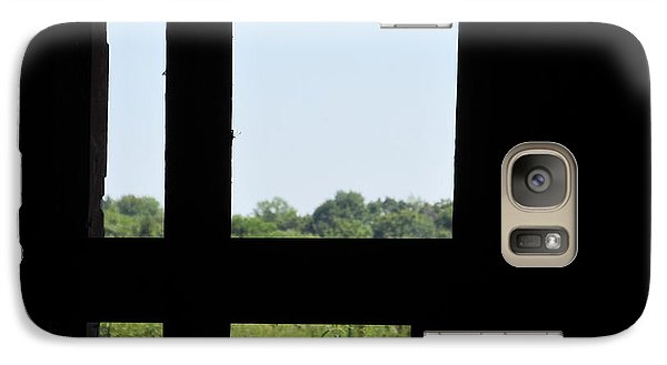 Galaxy Case featuring the photograph Barn Window by Tina M Wenger