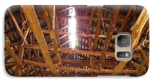 Galaxy Case featuring the photograph Barn With A Skylight by Nick Kirby