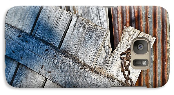 Galaxy Case featuring the photograph Barn Wood And Tin by Greg Jackson