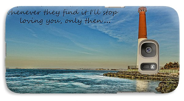 Galaxy Case featuring the photograph Barnegat Lighthouse Inspirational Quote by Lee Dos Santos