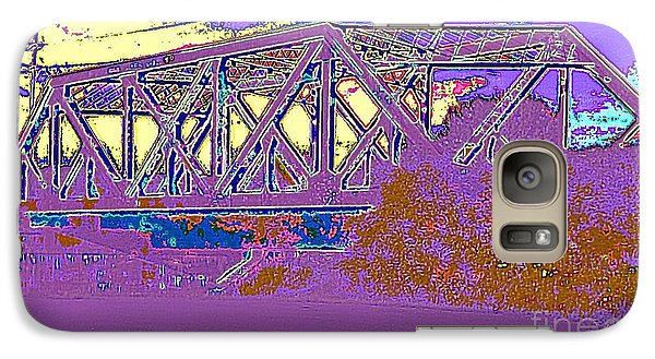 Galaxy Case featuring the photograph Barnes Ave Erie Canal Bridge by Peter Gumaer Ogden