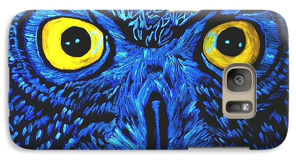 Galaxy Case featuring the painting Barney Black Light View by Lisa Brandel