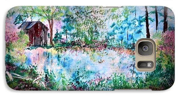 Galaxy Case featuring the painting Barnyard Beautiful by Denise Tomasura
