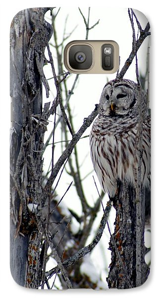 Galaxy Case featuring the photograph Barred Owl 2 by Steven Clipperton