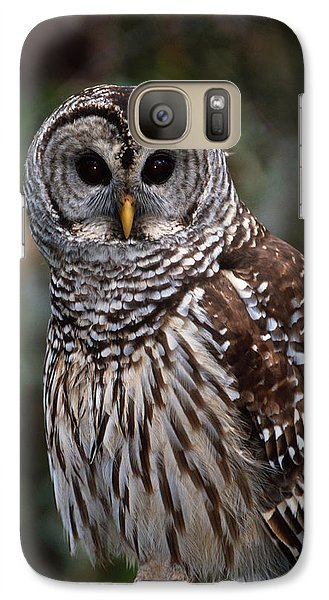 Galaxy Case featuring the photograph Barred Owl by Bradford Martin