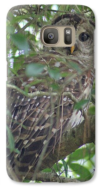 Galaxy Case featuring the photograph Barred Owl by Dodie Ulery