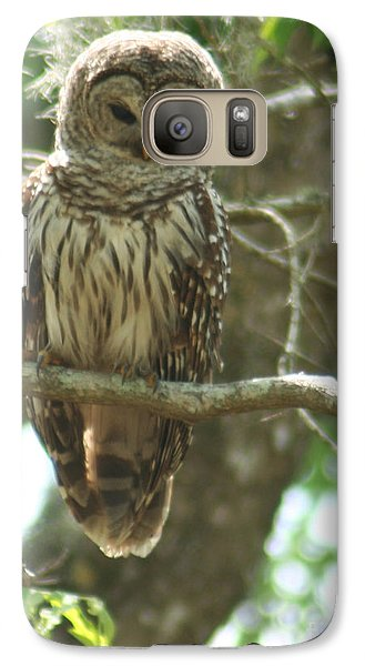 Galaxy Case featuring the painting Barred Owl by Jimmie Bartlett