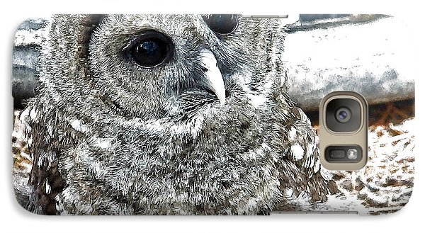 Galaxy Case featuring the photograph Barred Owl Photo Art by Constantine Gregory