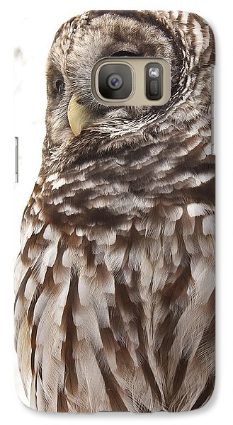 Galaxy Case featuring the photograph Barred Owl by Tammy Schneider