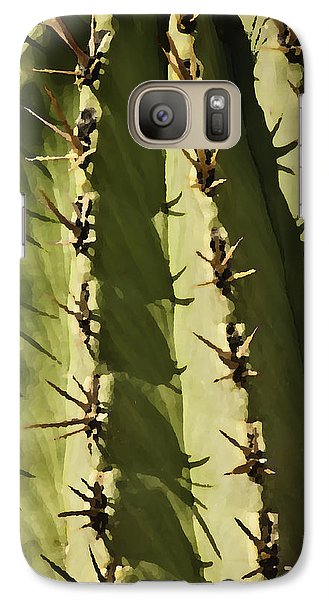 Galaxy Case featuring the photograph Barrel Cactus by Sherri Meyer